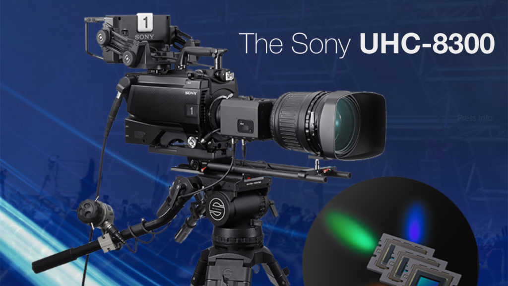 Sony 8K 3CMOS camera with simultaneous output of 8K, 4K and HD signals in HDR and SDR