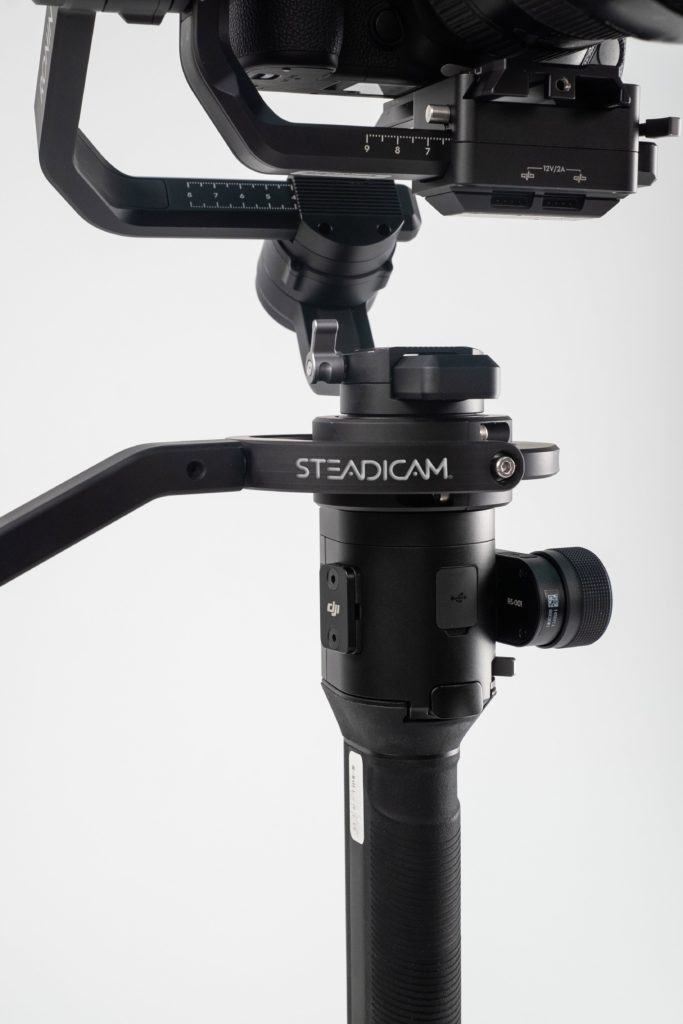 Gimbal Steadimate-S converts a handheld motorized gimbal into a full body-worn stabilizer system